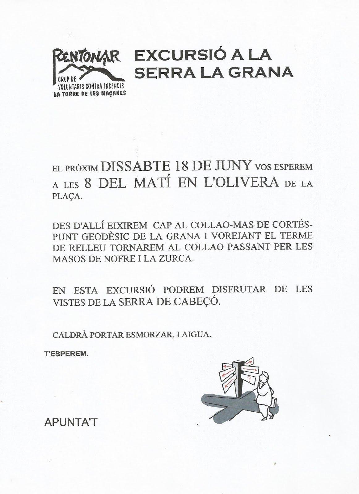 Excursió a la Serra la Grana, juny 2005