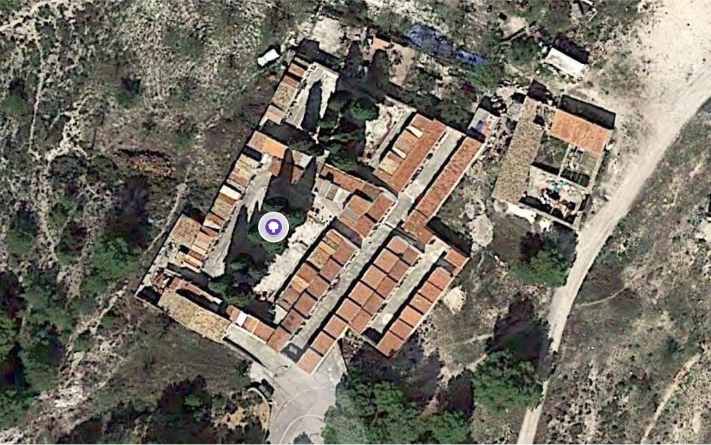 Mapa dels Xiprers del Cementeri de La Torre de les Maçanes