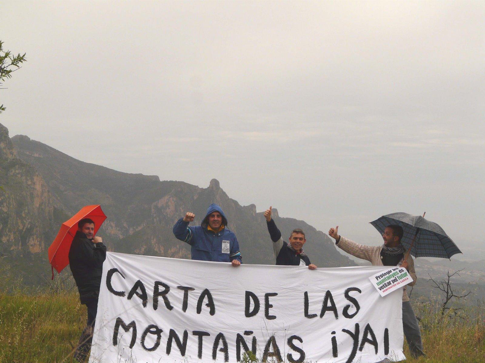 Reivindicació de la Carta de la Muntanya a la serra La Grana