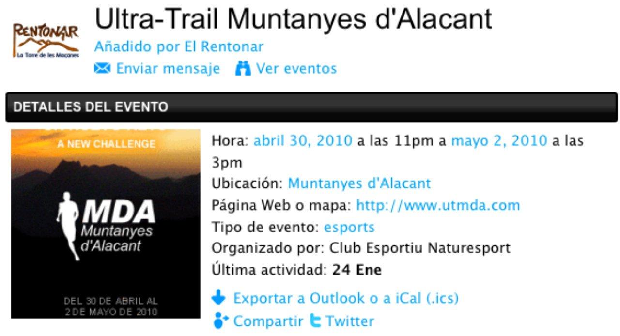 Ultra-Trail Muntanyes d'Alacant 2010