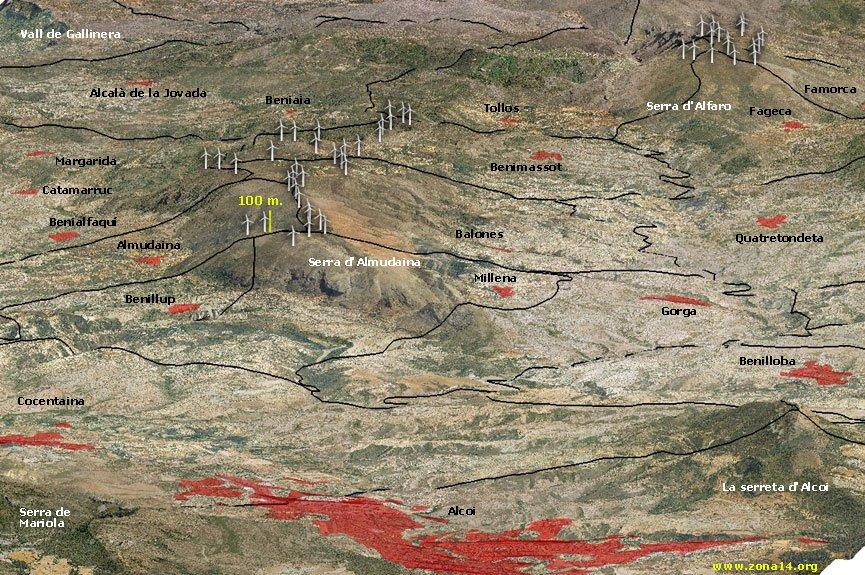 El TSJ valencià falla en contra de la protecció de zones ZEPA per a la instal·lació de parcs eòlics