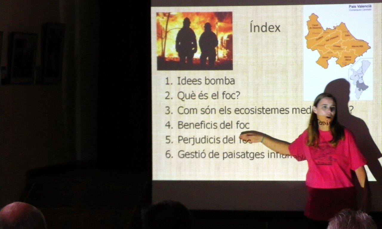 El foc, protagonista d'una conferència a Alfafara