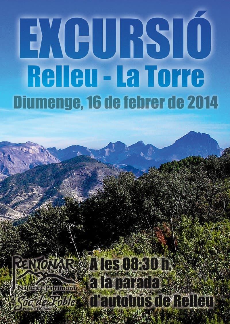 Excursió Relleu – La Torre per al 16 de febrer