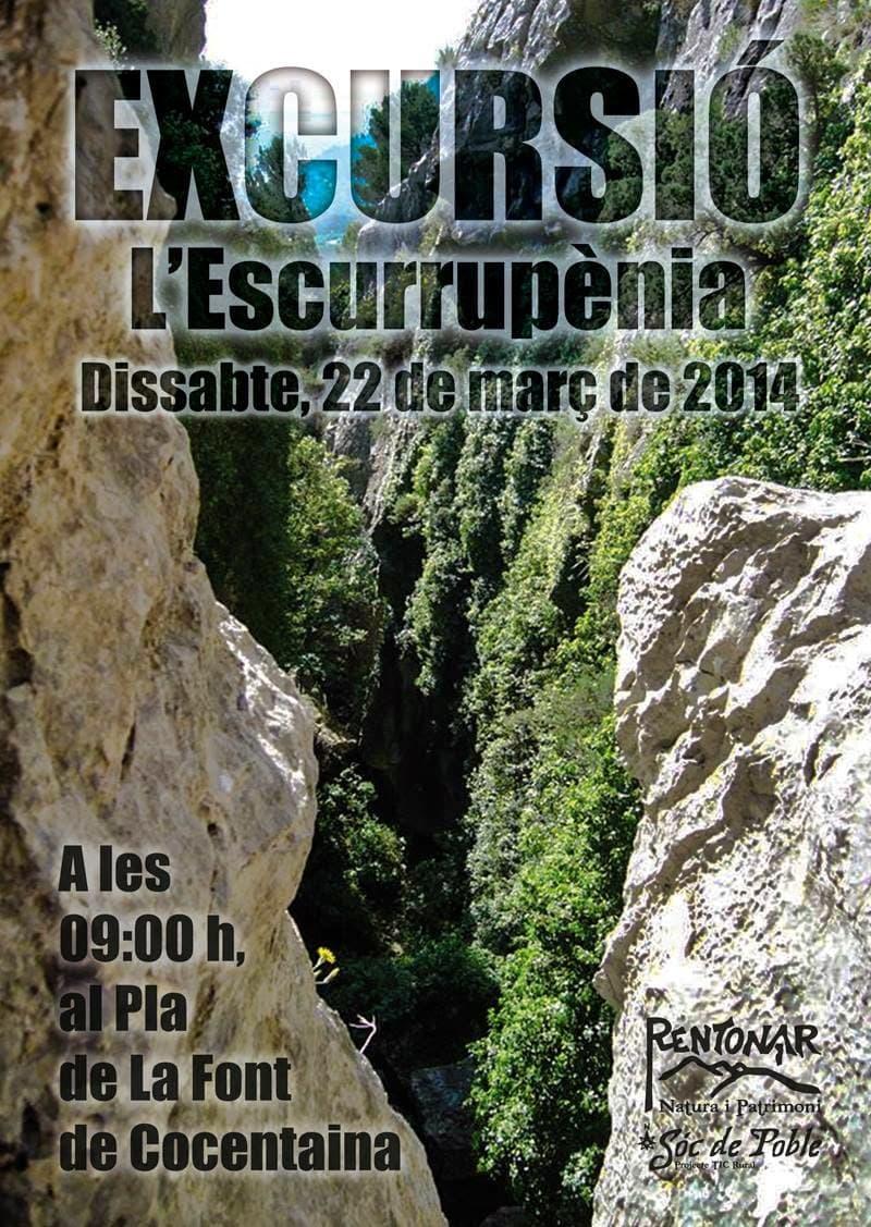 Excursió a l'escurrupènia el 22 de març