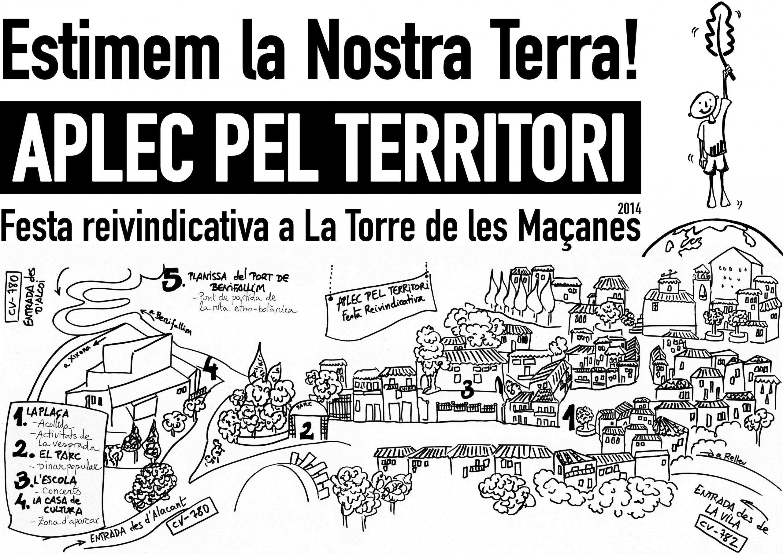 Plànol de situació de l'Aplec pel Territori