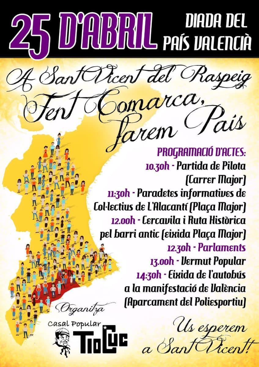 25 d'abril a Sant Vicent – Diada del País Valencià
