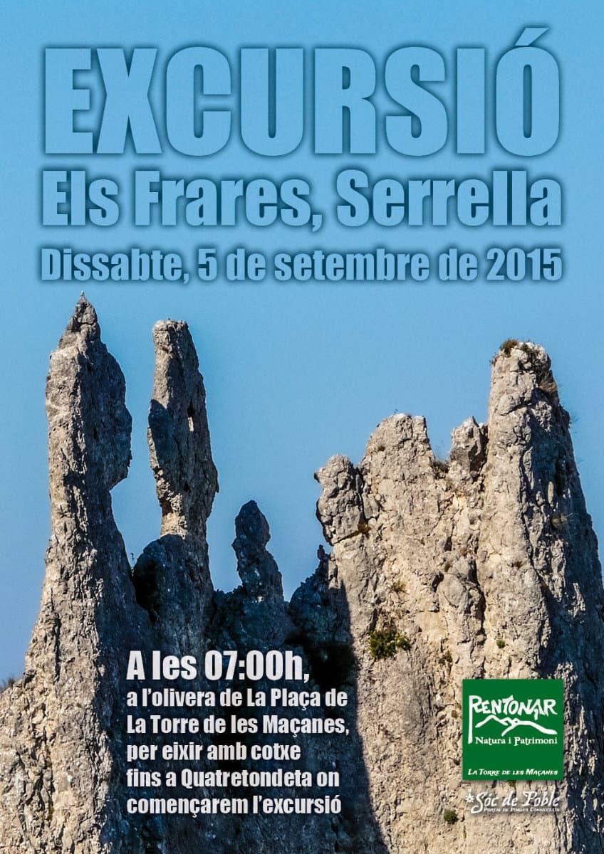 Excursió a les Agulles dels Frares, Serrella