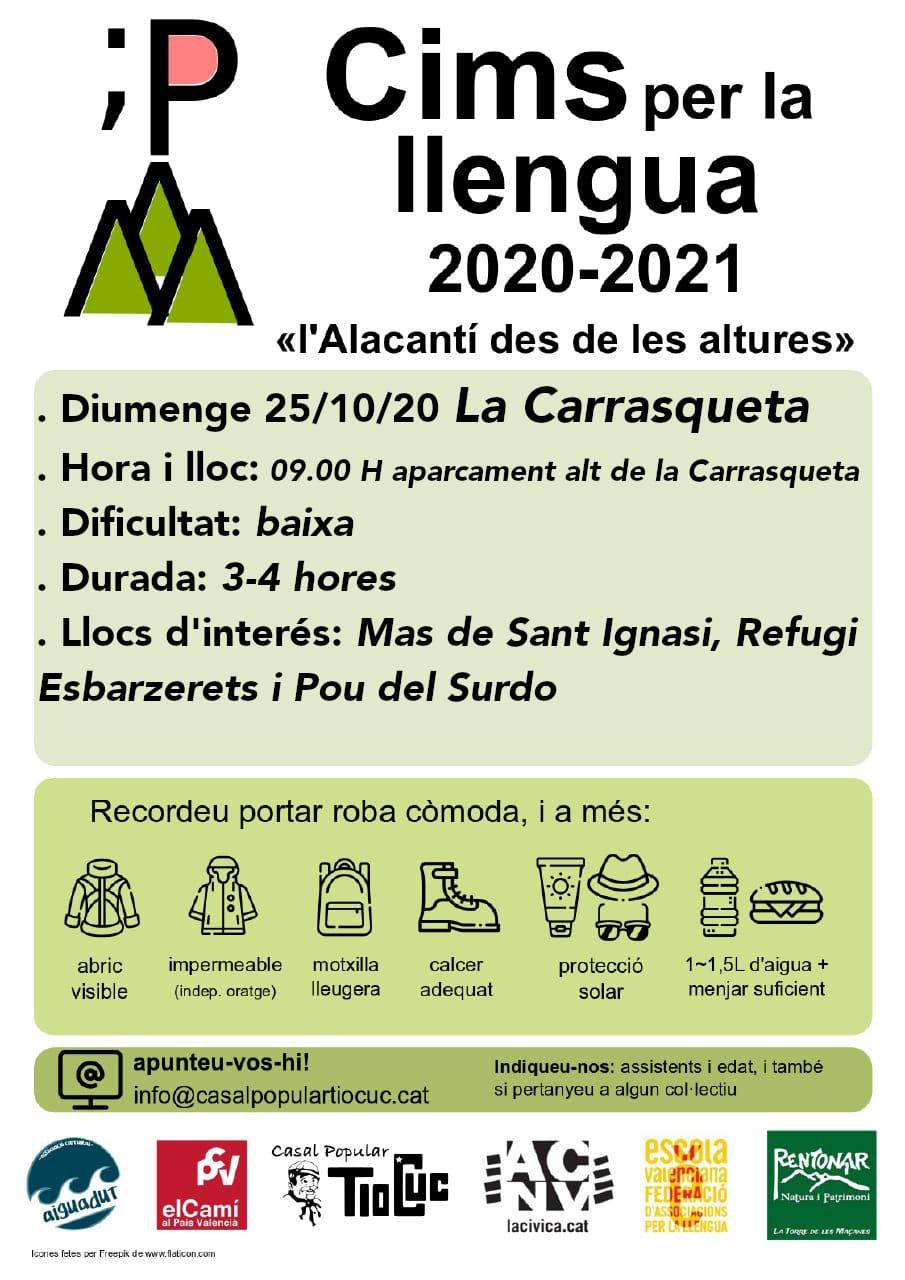 Cims per la llengua 2020 - 2021 - La Carrasqueta