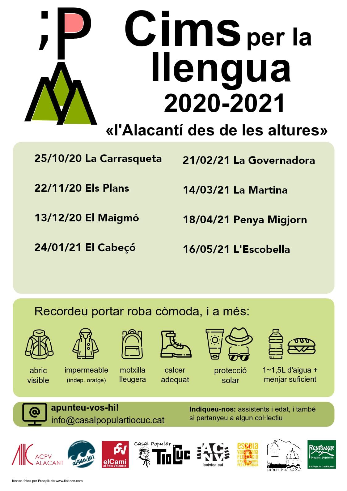 Cims per la llengua 2020 - 2021