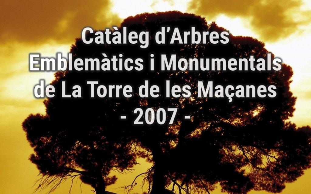 Portada Catàleg d'Arbres Emblemàtics i Monumentals de La Torre de les Maçanes