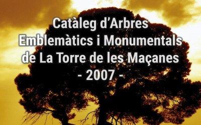 Catàleg d'Arbres Emblemàtics i Monumentals de La Torre de les Maçanes