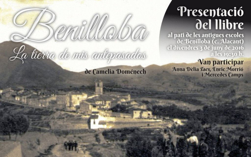 Portada del llibre Benilloba, la tierra de mis antepasados