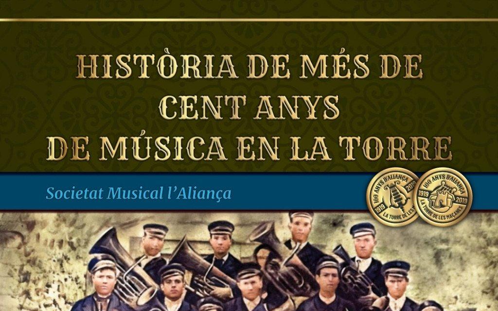Història de més de cent anys de música en La Torre. Portada del llibre