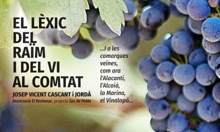 El lèxic del raïm i del vi al Comtat